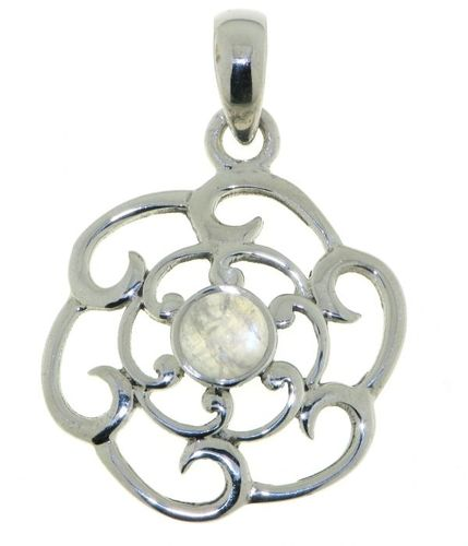 Rainbow Moonstone Symbol pendant model P9-057