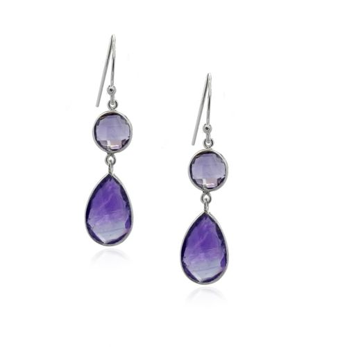 Amethyst Hanging earring model E5-019