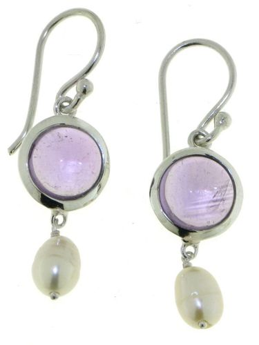 Amethyst Hanging earring model E6-009