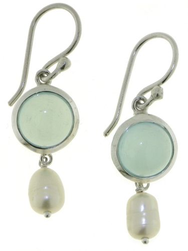 Chalcedony Aqua Hanging earring model E6-009