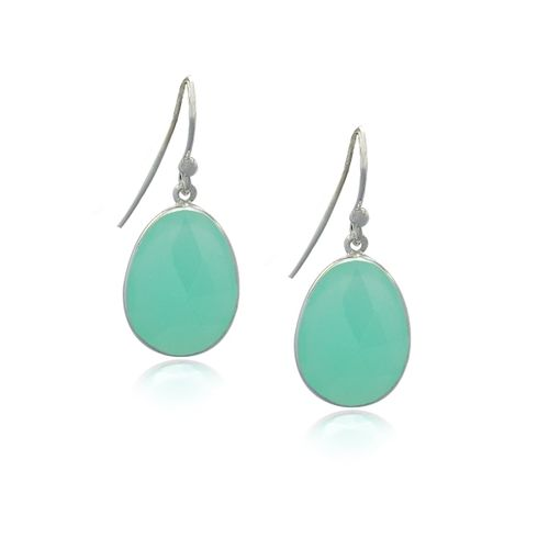 Chalcedony Aqua Hanging earring model E5-031