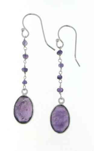 Amethyst Hanging earring model E5-034