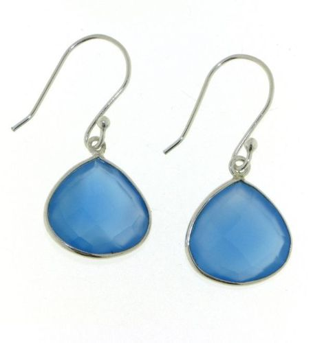 Chalcedony blue Hanging Earring model E5-023