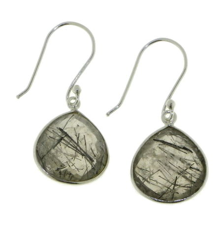 Tourmalinated Quartz Hanging Earring model E5-023