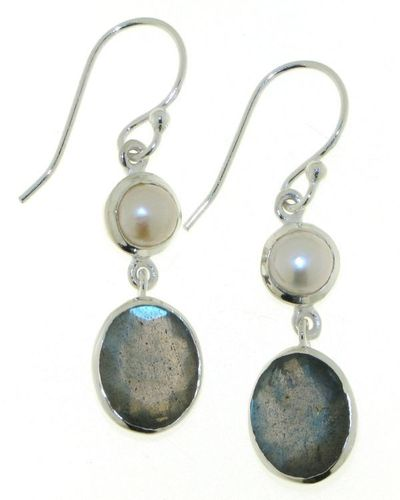 Labradorite Hanging Earring model E5-057
