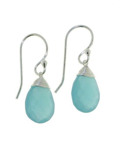 Chalcedony aqua Hanging earring model E5-037