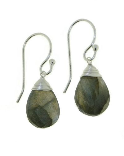 Labradorite Hanging earring model E5-037