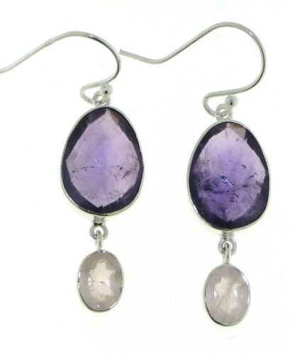 Amethyst Hanging earring model E5-063