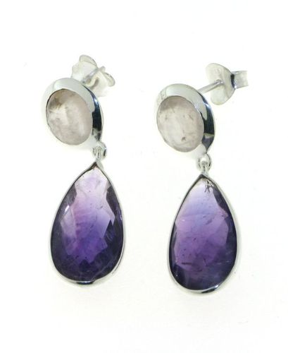 Amethyst Hanging earring model E5-064