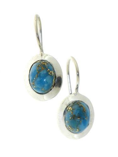 Copper Turquoise Hanging earring model E6-020
