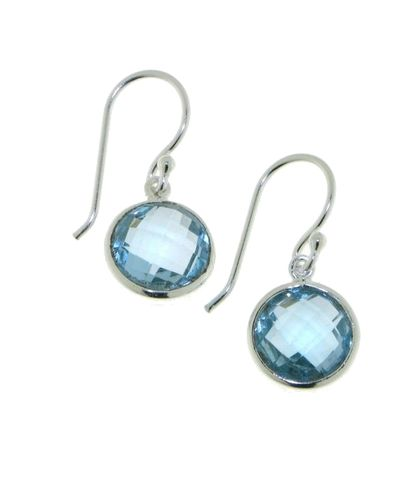 Blue Topaz Hanging earring model E6-016