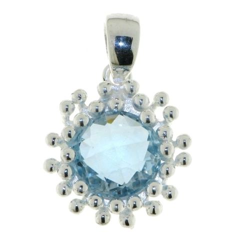 Blue Topaz Pendant model P6-007